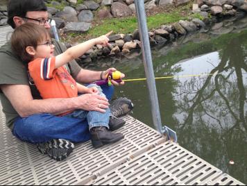 Kids Fishing On Lake Panorama