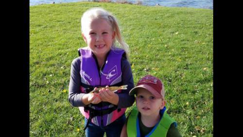 Lake panorama fish stocking walleye